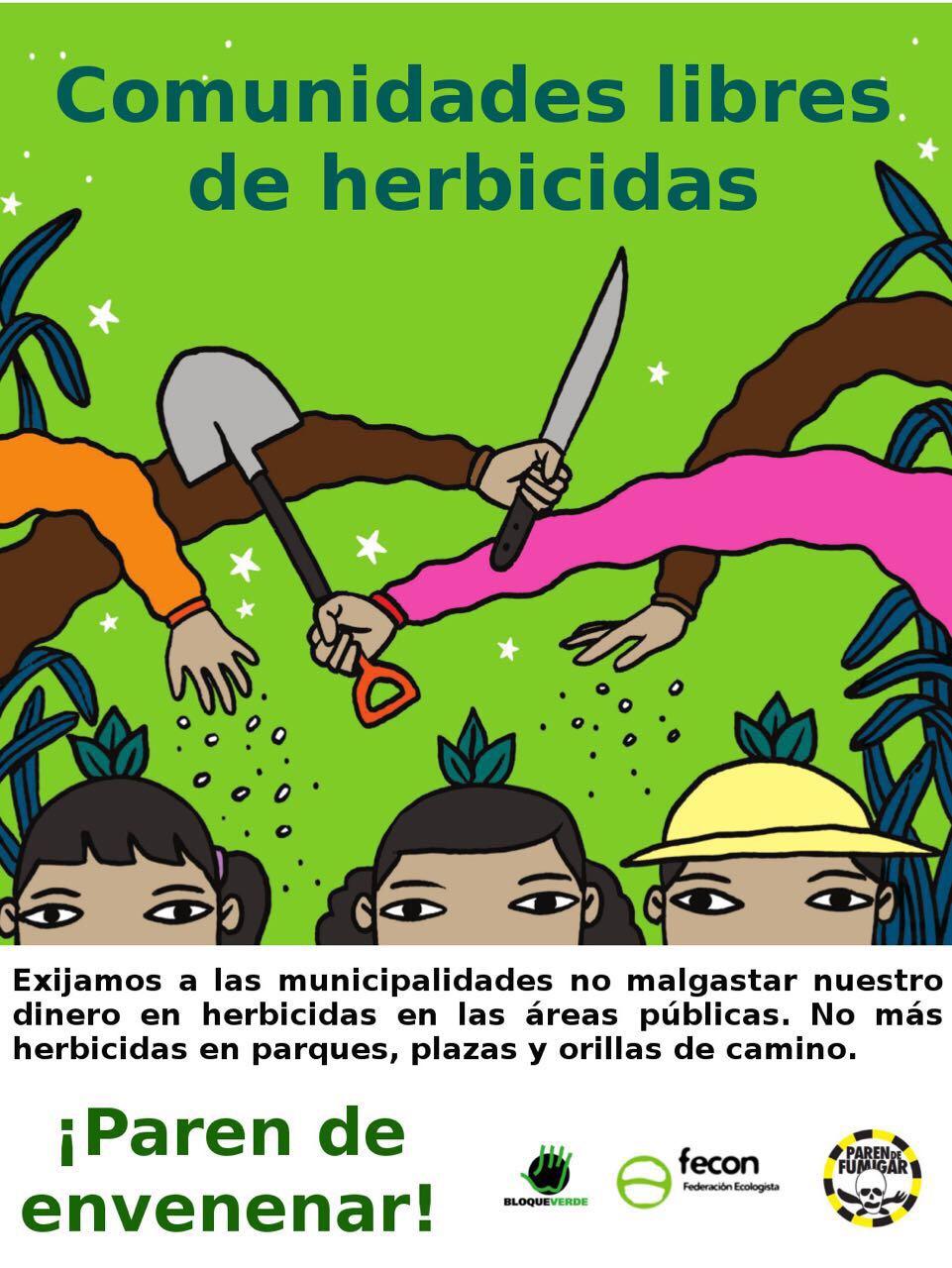 Montes de Oca prohíbe el uso de glifosato en sus espacios públicos