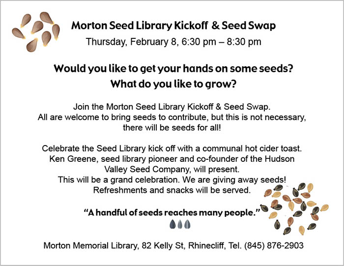Morton Seed Library Kickoff & Seed Swap