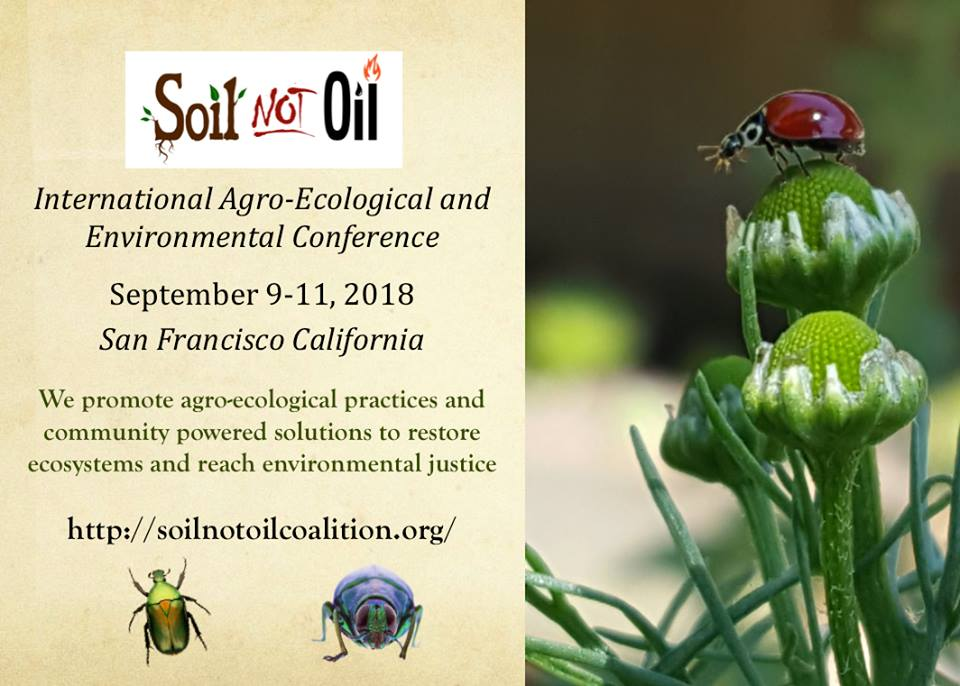2018 Soil Not Oil International Conference