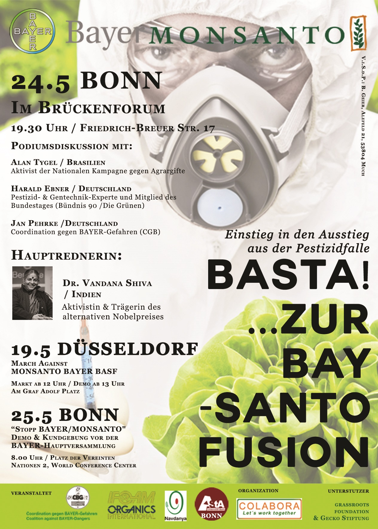 """Stop BAYER-MONSANTO"" in Germany"