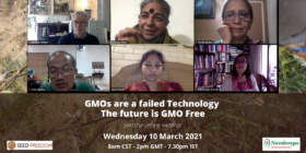 Webinar 'GMOs are a failed Technology. The future is GMO-Free' – Highlights