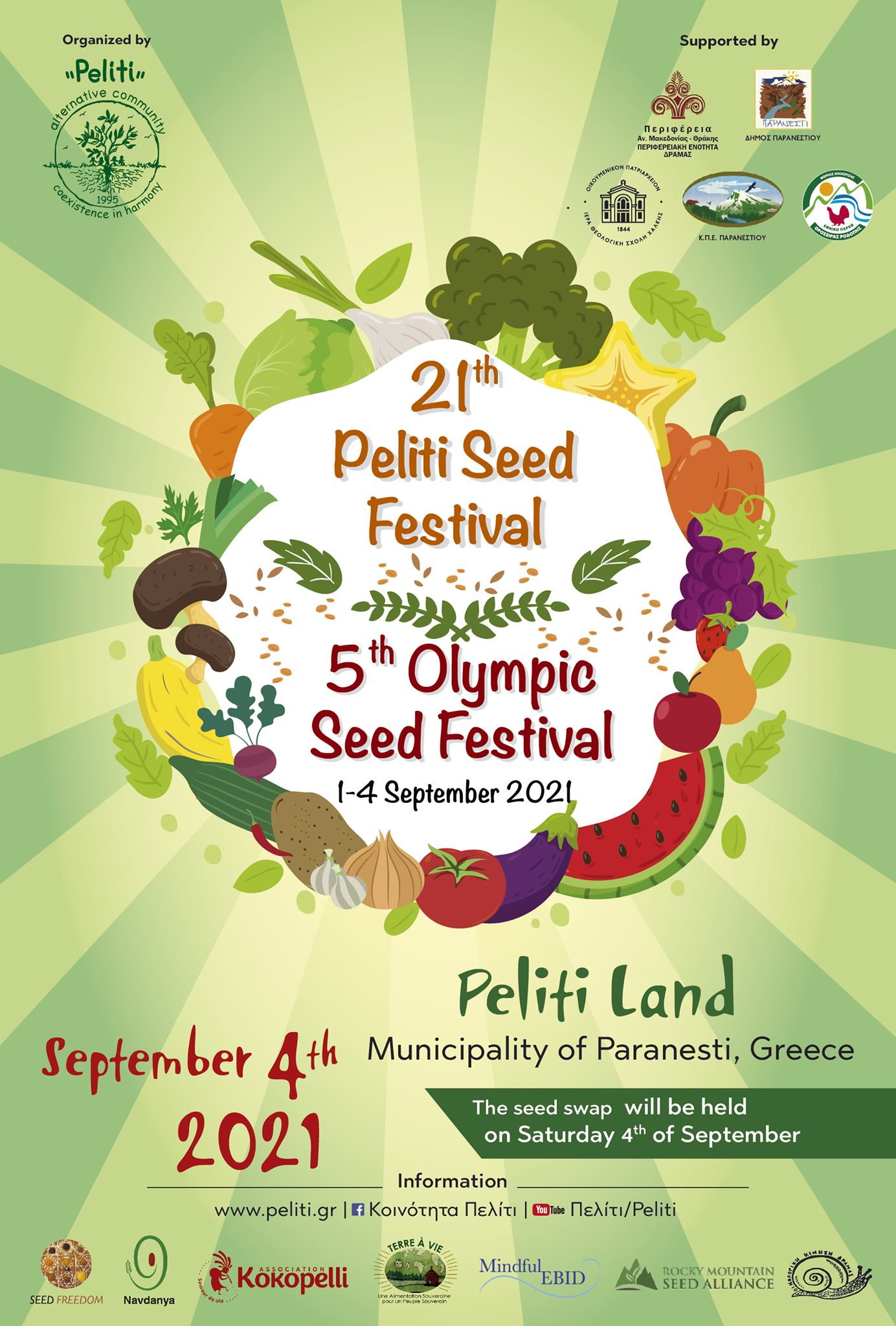 Peliti & Olympic Seed Freedom Festival 2021