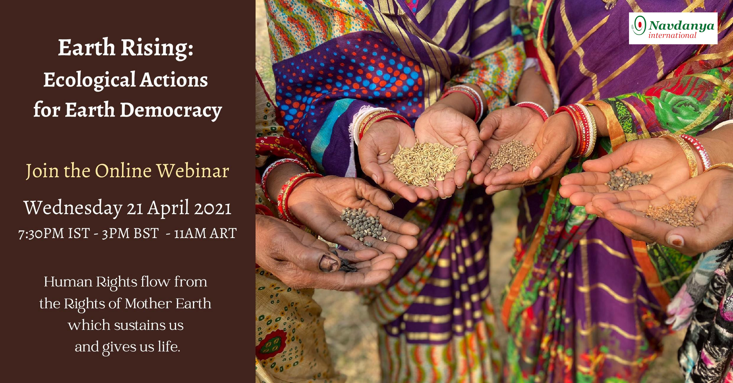 Webinar: Earth Rising: Ecological Actions for Earth Democracy