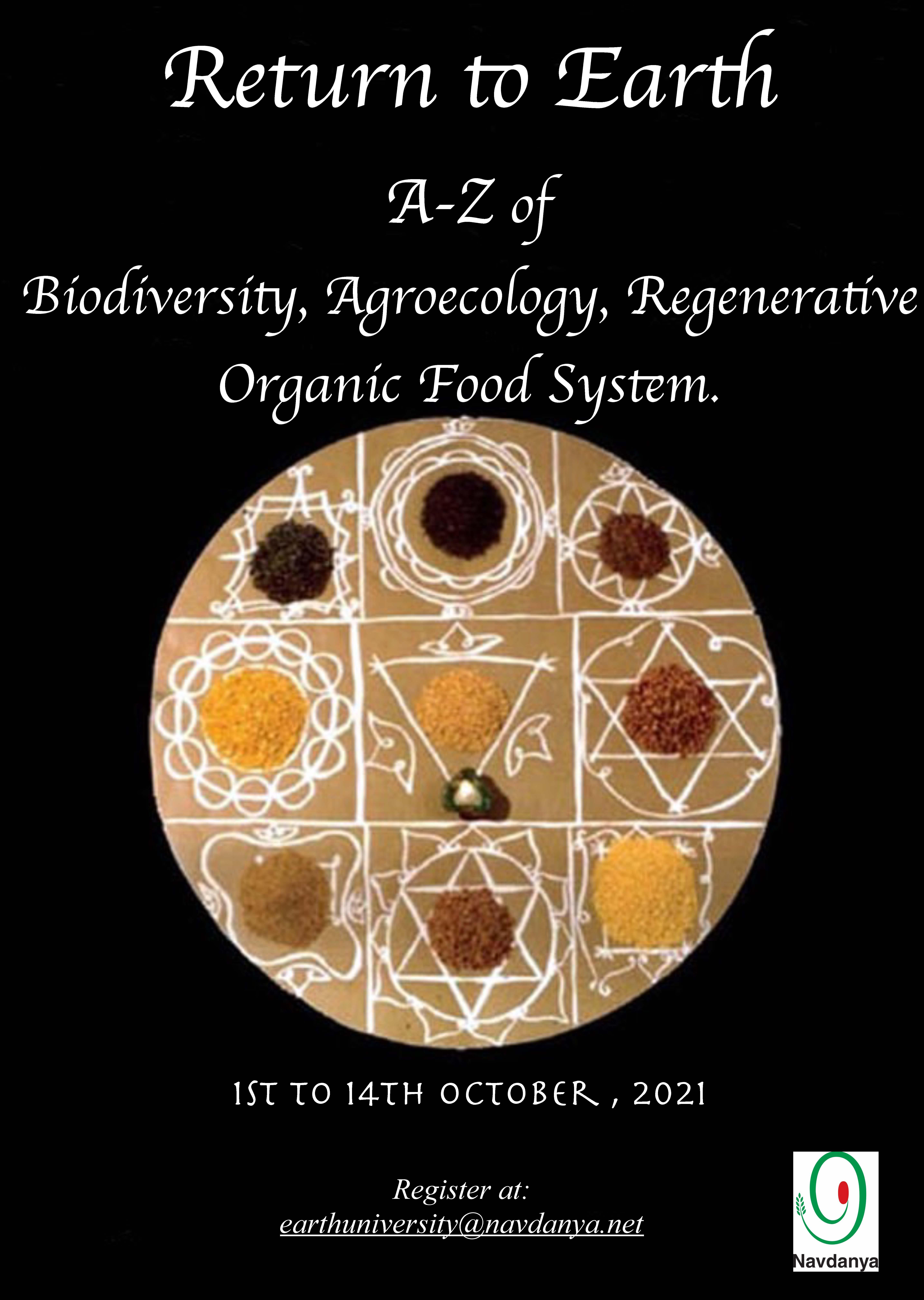 Return to Earth: AZ of Biodiversity, Agroecology, Regenerative Organic Food System